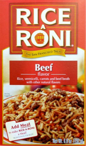 Rice A Roni Beef Flavor 6.8 oz (Pack of 24) by Rice-A-Roni
