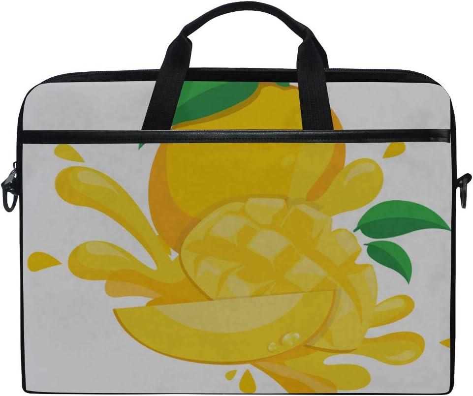 Briefcase Messenger Shoulder Bag for Men Women College Students Business People Office Workers Laptop Bag Fresh Mango 15-15.4 Inch Laptop Case