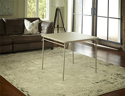 Cosco Vinyl Top Folding Table, 34-Inch