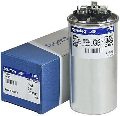 B9457-7200 - 45 + 5 uf MFD 370 Volt VAC - Goodman Round Dual Run Capacitor  Upgrade