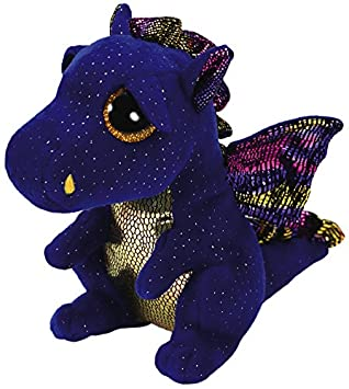 Ty Beanie Boos Saffire, dragón, Color Azul, 15 cm (United Labels Ibérica
