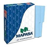 Mapasa PA0001 Paquete con 100 Folders, Tamaño Carta, color Azul