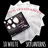 Arts & Crafts : Coral Entertainments Biodegradable Chinese Lanterns with Box 10-Pack White Sky Lanterns