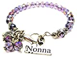 Nonna Italian Grandmother Splash of Color Bracelet in Lavender Purple by ChubbyChicoCharms