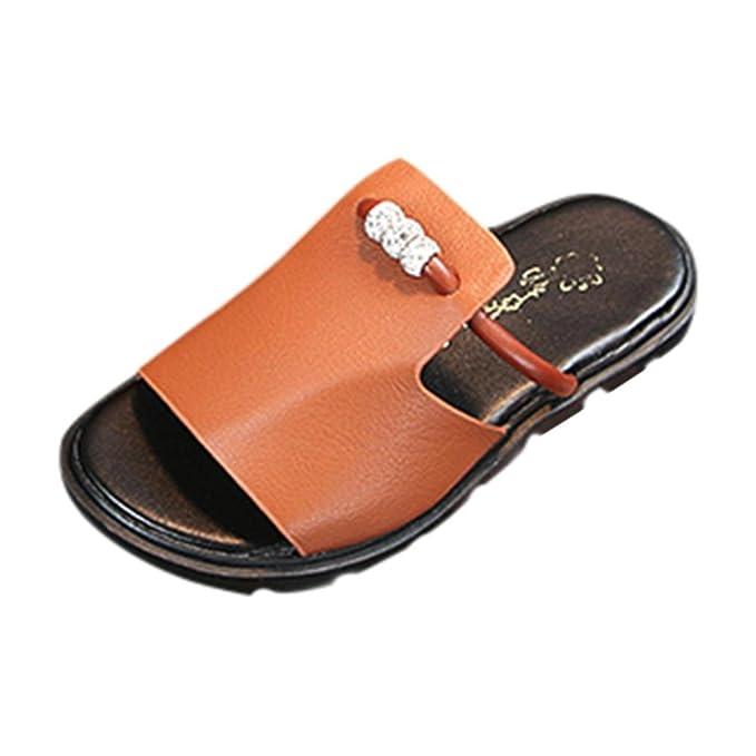 Zapatillas pie abiertas niños antideslizantes Zapatillas de del con Zapatillas cuentas dedo de XlOiPZTwuk