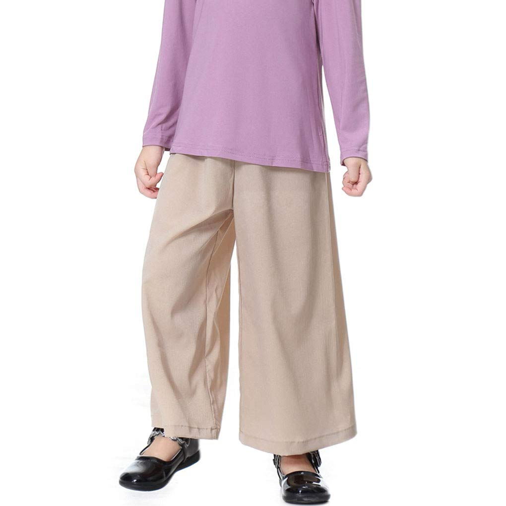 Provide The Best Fille Taille Haute b/éb/é Pantalon Large Enfant Adolescent Enfants Solides Pantalons desserr/ées