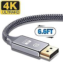 DisplayPort Cable,Capshi 4K DP Cable Nylon Braided -(4K@60Hz, 1440p@144Hz) Ultra High Speed DisplayPort to DisplayPort...