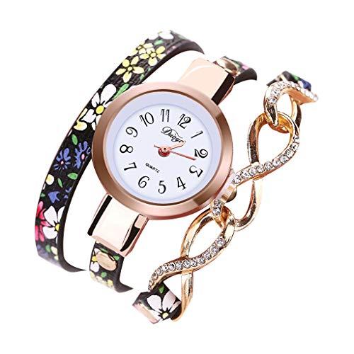 (Bracelet Watches for Women,LYN Star❀ Fashion Analog Quartz Bangle Cuff Bracelet Wrist Watch, Unique Elegant Watch Band)