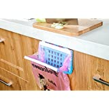 Katoot@ Plastic Kitchen Cupboard Drawer Door Trash Bags Rack Stand Foldable Food Wastes Bin Dustbin Hanging Storage Rack Organizer