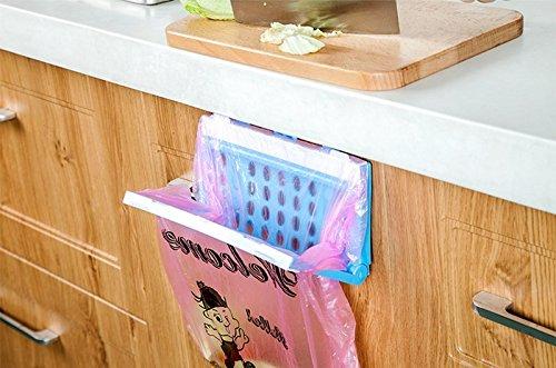katoot @プラスチックキッチン食器棚引き出しドアゴミ袋ラックスタンド折りたたみ式Food wastes Bin Dustbin Hangingストレージラックオーガナイザー B0732N9HCM