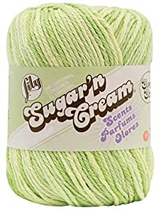 Lily Sugar 'N Cream Super Size Scents Yarn, 3 Ounce, Aloe Vera