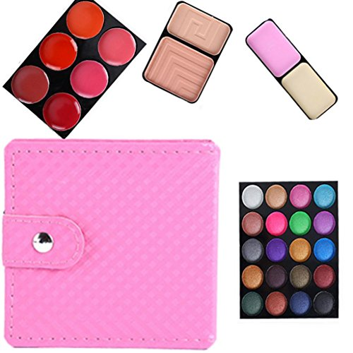 Eye shadow Sandistore 32 Color Cosmetic Matte Eyeshadow Cream Eye Shadow Makeup Palette Shimmer Set (Pink)
