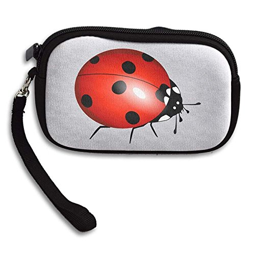 100% Polyester Pouch Coin Purse, Ladybug -