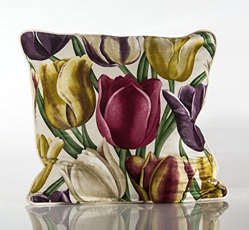 Decorative pillow cover, Sanderson floral fabric tulips