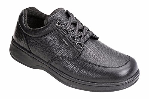 Orthofeet Avery Island Comfort Orthopedic Diabetic Walking Plantar Fasciitis Shoes for Men Black Leather 11 XXW US