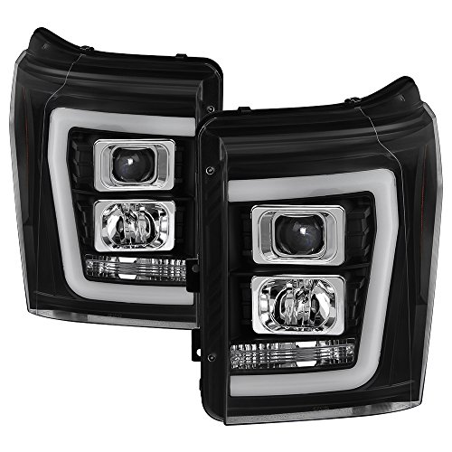 Ford F-250/F-350/F450 Super Duty 11-16 Version 2 Projector Headlights - Light Bar DRL - ()