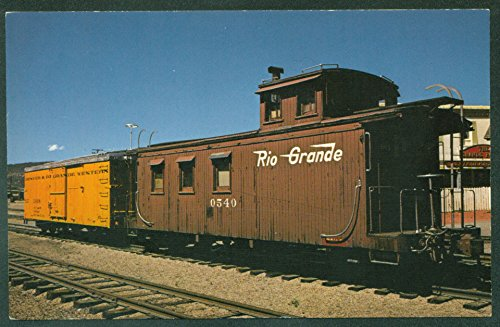 Caboose Grande Rio - Denver & Rio Grande Western RR CABOOSE NARROW GAUGE Train Railroad Postcard