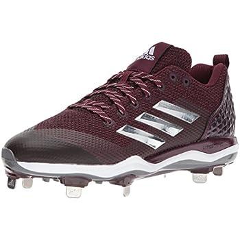 95b1c746cc30 adidas Men's Freak X Carbon Mid Baseball Shoe, Maroon/Metallic Silver/White,