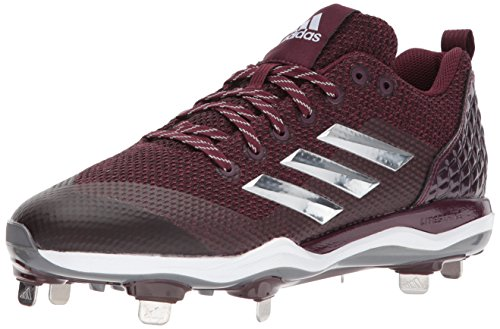 Zapatillas De Fútbol Adidas Hombres Freak X Carbon Mid, Maroon / Plata Metalizada / Blanco, 9.5 Medium Us