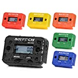 NKTECH NK-HS2 Inductive Hour Meter for Gas Engine Marine ATV Boat Motorcycle Snowmobile Dirt Ski Waterproof Generator Hourmeter