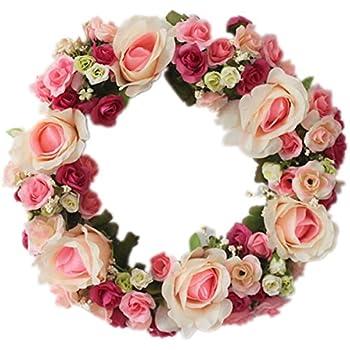Amazon large blooming flower wreath handmade home wall wedding large blooming flower wreath handmade home wall wedding decor mightylinksfo
