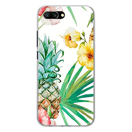 Lovely Pineapple Transparent Frame Hard Phone Case Cover for Huawei Honor 8 9 Lite 10 10 Lite 6X 7X 7S 4C 6C Pro,10,for Honor 8 Lite