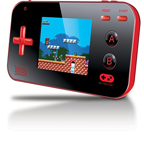 "(My Arcade Gamer V Portable Gaming System - 220 Built-in Retro Style Games and 2.4"" LCD Screen – Red/Black)"