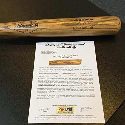 Dave Parker Game Used Bat From His Historic MVP 1979 All Star Game GU 10 - PSA/DNA Certified - MLB Game Used Bats (1979 Mlb All Star Game)
