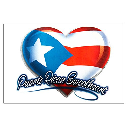 Dressing Puerto Rico - Large Poster Puerto Rican Sweetheart Rico Flag
