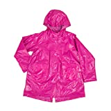 Wippette Colored Rain Jacket For Little Girls & Toddlers, Pink Glow, 4 Little Girls