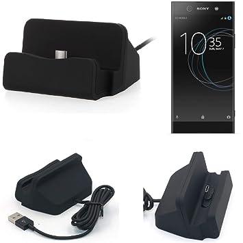 K-S-Trade Dock USB para el Sony Xperia XA1 Ultra, Negro ...