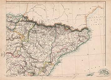 Spanien Katalonien Karte.Amazon De Spanien Katalonien Ne Aragon Navarre Barcelona