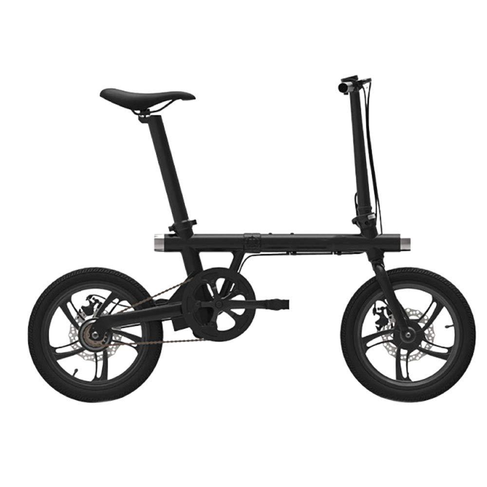 ミニ折りたたみ電気自動車、16インチの内蔵リチウム電池大人の小さな旅行電動自転車、超軽量で耐久性のあるアルミニウムボディ