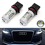 audi a4 b8 headlight bulbs - iJDMTOY Xenon White 80W High Power P13W LED Bulbs For 2008-2012 Audi A4 Q5 Daytime Running Lights (For A4 Q5 with Halogen Headlight Only)