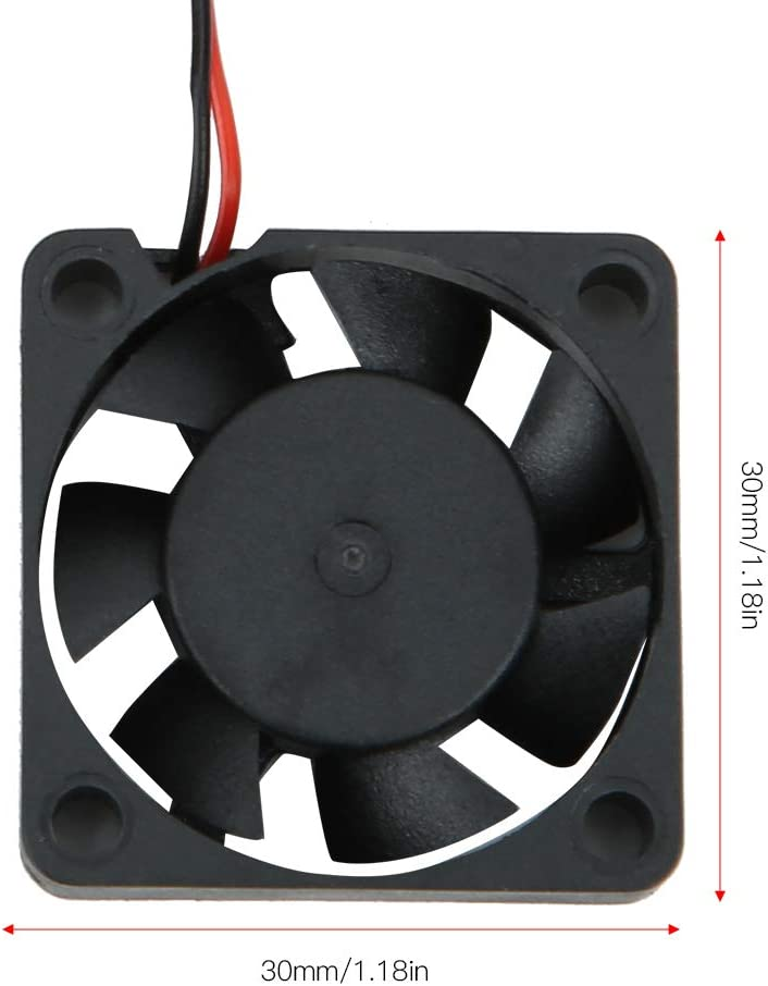 30x30MM Plastic High Speed 21000RMP Remote Control Cooling Fan RC Spare Upgrade Parts Accessory for 540 Brushless Remote Control Car VGEBY RC Cooling Fan