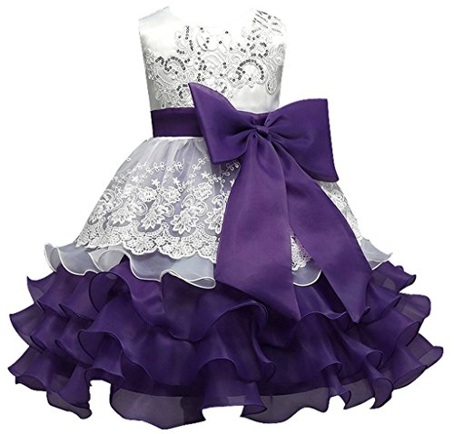 Happy Rose Vintage Ruffles Embroidered Sequins Flower Girl Dress Wedding Pageant 12