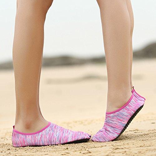 Excercise fereshte Pink Socks Barefoot Aqua Unisex Gym Yoga Surf Swim Shoes Beach for Flyline Water 76w4r7xWCq
