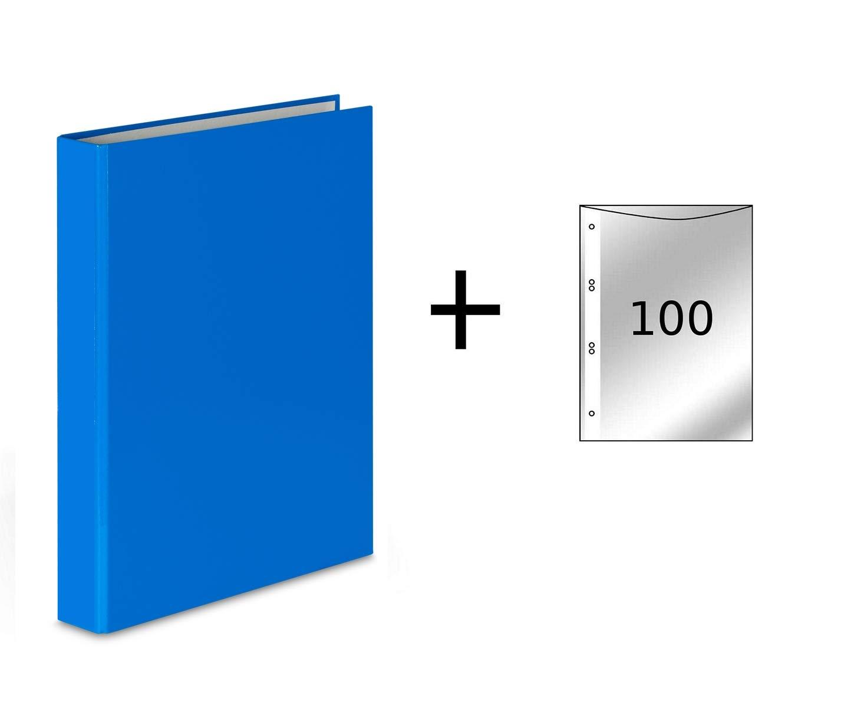 FolderSys - Archivador de 2 anillas (DIN A5, incluye 100 ...