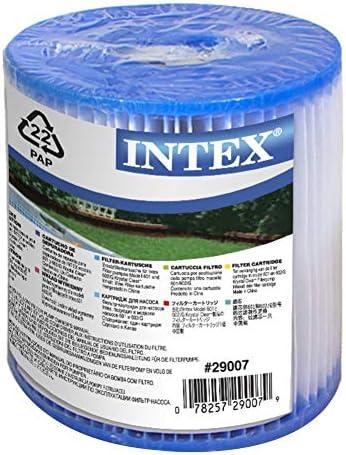 Intex 29007 - Cartucho tipo H altura 10 cm y diámetros 9-3 cm ...