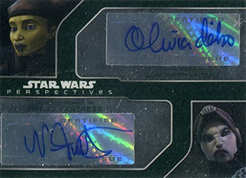Star Wars Chrome Perspectives Dual Autograph Olivia D'Abo
