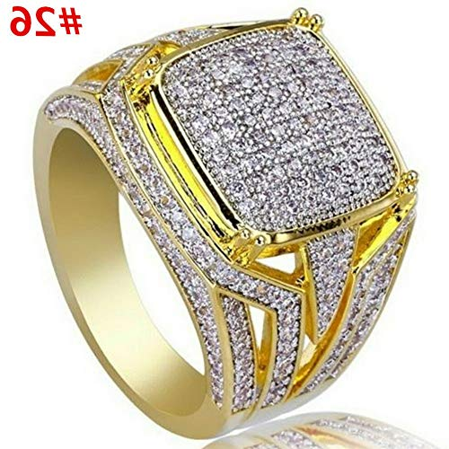 Dokis Women 18K Yellow Gold Fil White Sapphire Wedding Bridal Ring Jewelry Sz 5-10 | Model RNG - 4930 | 9 Blue Rosewood Napkin Holder