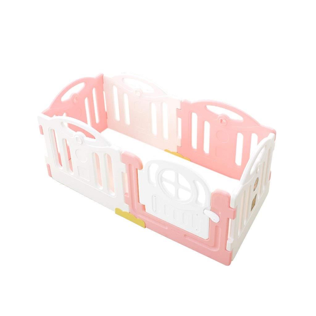 LIUFS-フェンス ゲームフェンス安全ナチュラルフェンスホーム拡張タイプ子供フェンス屋内と屋外セキュリティゲームフェンス無料の組み合わせ (Color : Pink-White, Size : 6p) 6p Pink-White B07STJ1GYG