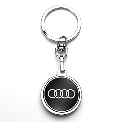 JIYUE Compatible for Keychains 3D Car Logo Suit for Keychain Suit for Audi A1 A3 A4 A5 A6 A7 A8 Q5 Q7 R8 S5 S7 Q5 RS Key Chain Keyring Family Present for Man and Woman(1pcs): Automotive
