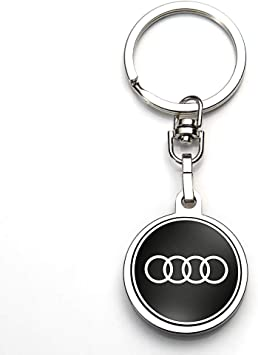 JIYUE Compatible for Audi Keychains 3D Car Logo Suit for Keychain Suit for Audi A1 A3 A4 A5 A6 A7 A8 Q5 Q7 R8 S5 S7 Q5 RS Key Chain Keyring Family Present for Man and Woman(1pcs)