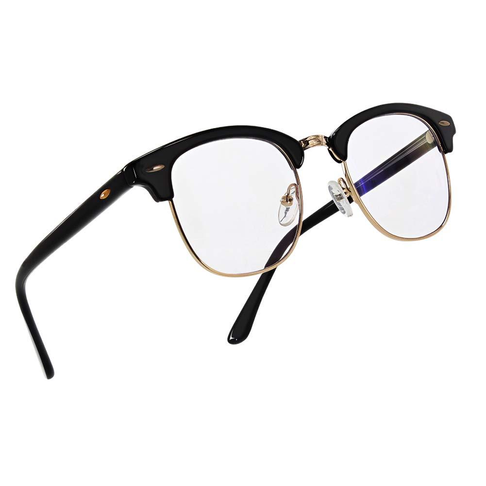 TOPERSUN Blue Light Glasses UV400 Anti Glare Computer Glasses Gaming Glasses Anti Eye Strain Blue Light Glasses for Women Man GS&GM