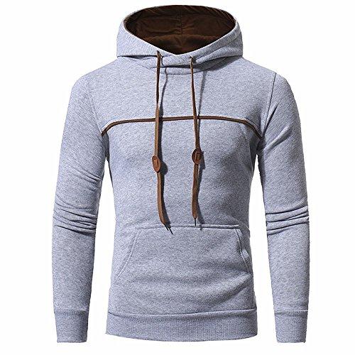 Luoluoluo Slim Overcoat Jacket Men Gray Men's Coats Designed Cardigan Hooded Autumn Outwear Winter Top rnYSrax