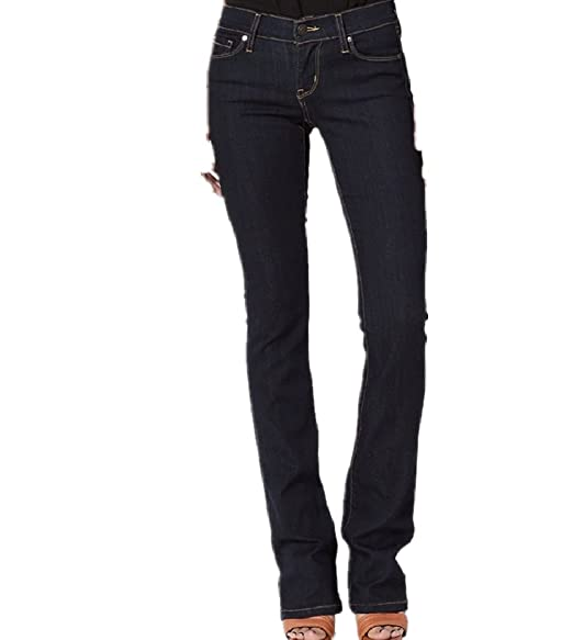 Amazon.com: Dustin ropa Low Rise Slim Fit Bootcut Jeans con ...