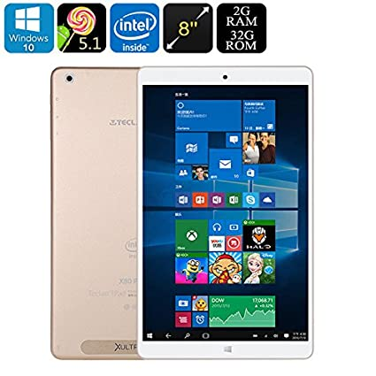 Teclast X80 Power Dual-OS Tablet PC - Windows 10, Android 5 1, Quad-Core  CPU, Google Play, HDMI Out, 2GB RAM, 8-Inch FHD Display