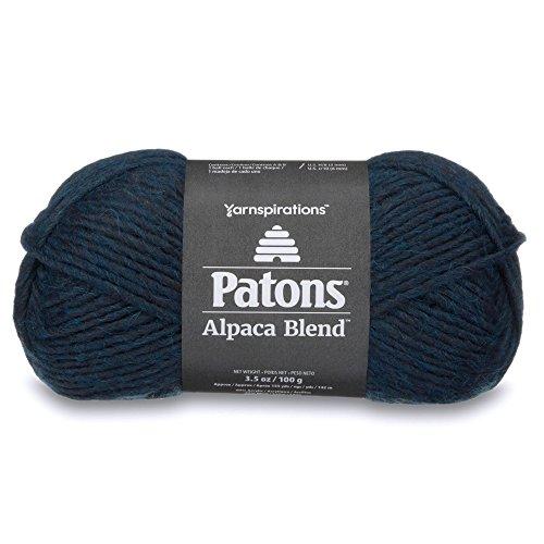 (Patons  Alpaca Blend Yarn - (5) Bulky Gauge  - 3.5oz -  Baltic -  Machine Washable  For Crochet, Knitting & Crafting)