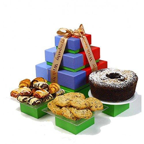 Kosherline Sympathy Tower, Kosher Chocolate Cake, Rogelach & Cookies Basket